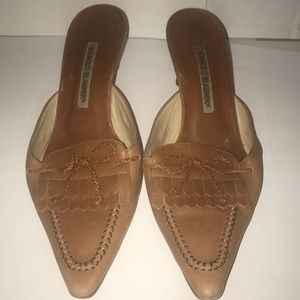Brown Leather Manolo Blahnik